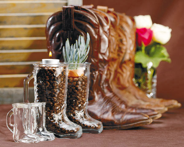 unique boots western wedding favors ideas