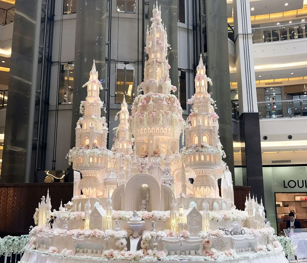 Castle Wedding Cake With Four Epic Towers