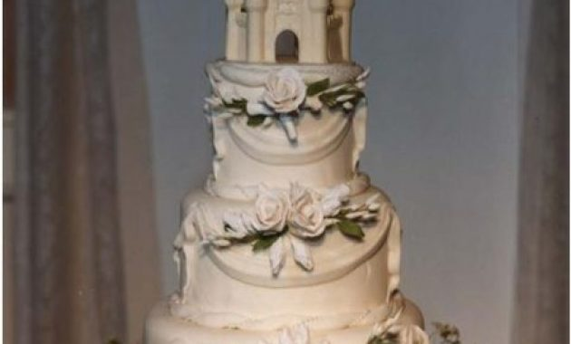 Elegant Disney Castle Wedding Cake