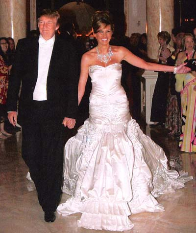 melania trump wedding dress | Sang Maestro