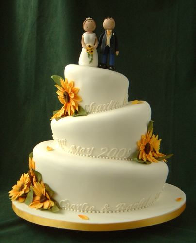 unique sunflowers wedding cake