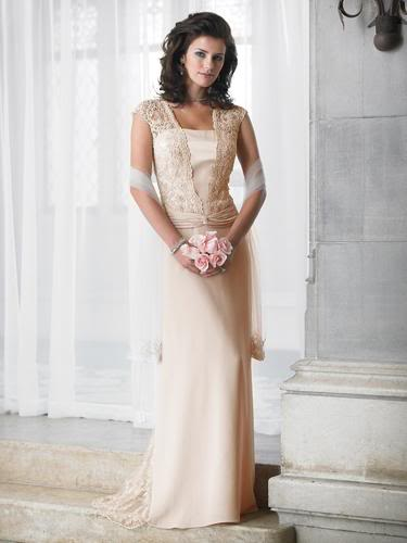 crepe embroidered wedding dress