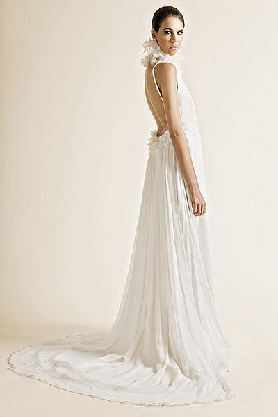 sleeveless silk georgette wedding dress sang maestro