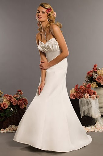 wedding dress with crumb catcher