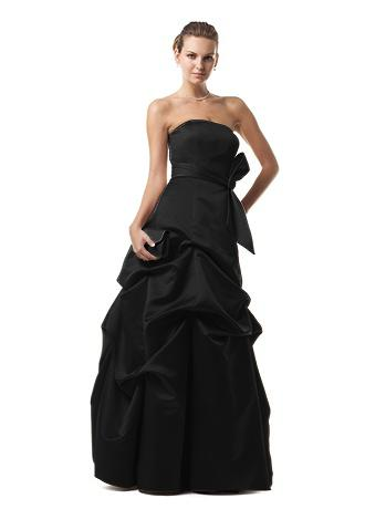 strapless black wedding dresses