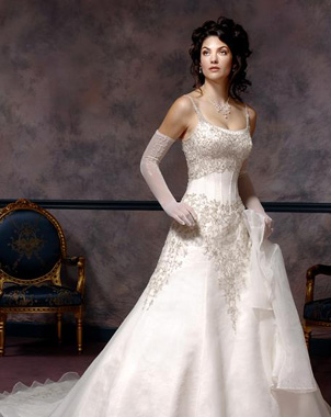 corset lace wedding dress