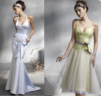 Elegant bridal party dresses sang maestro for Elegant wedding party dresses