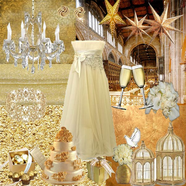 Gold Themed Wedding: Wedding Gold Theme Ideas