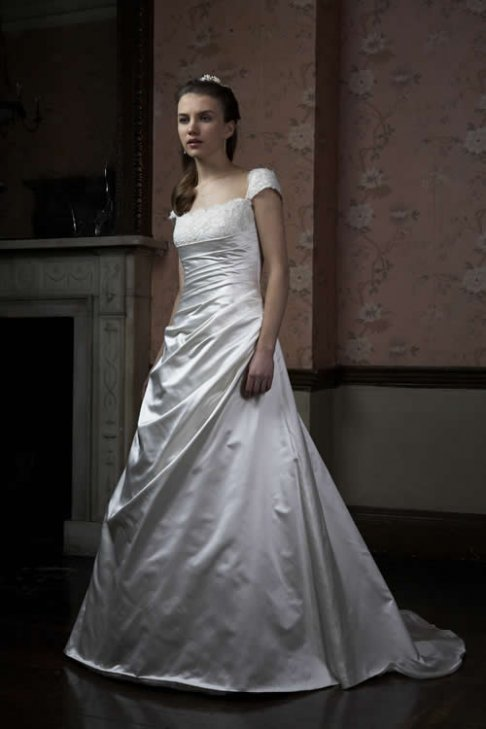 classical wedding gown
