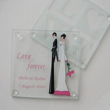 Personalized Wedding Favors on Personalized Glass Coaster Wedding Favors Jpg