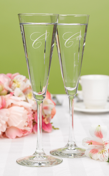 Some wedding toasting flutes like contemporary wedding toasting flutes in