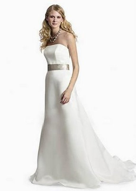 romantic satin wedding dress