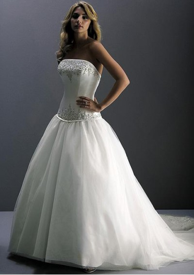 a-line tulle wedding dress