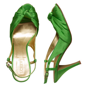 green bridesmaid shoes