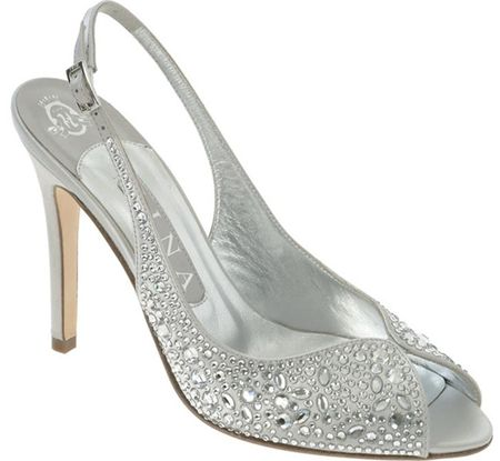 unique silver bridesmaid shoes