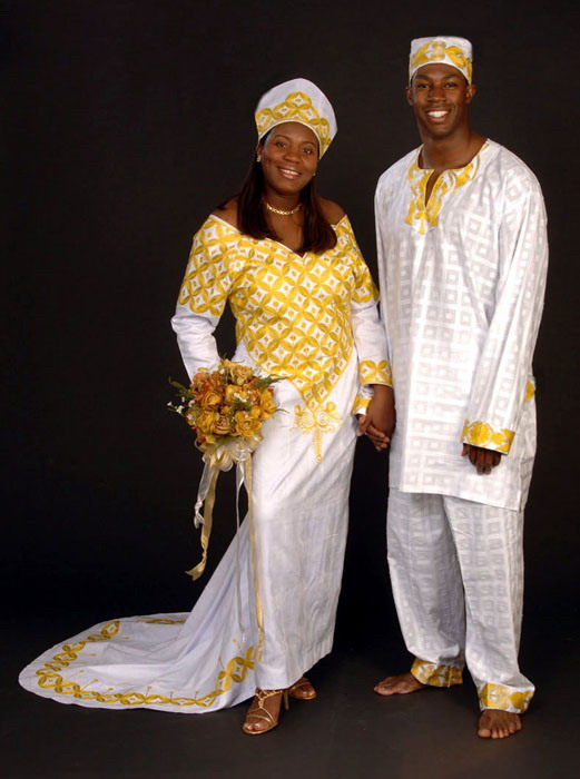 african bride and groom dresses