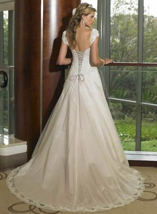 corset wedding dress with straps