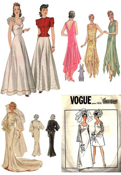 Vintage wedding dress patterns sang maestro for Wedding dress patterns vintage