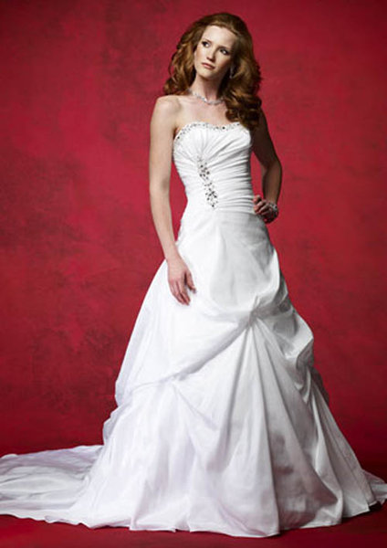 White Corset Wedding Dress