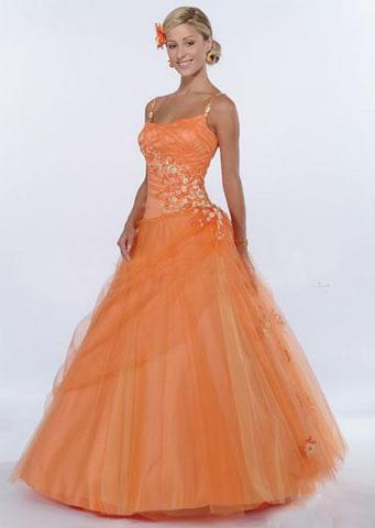 orange colored wedding dresses