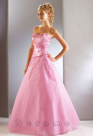 pink colored wedding dresses