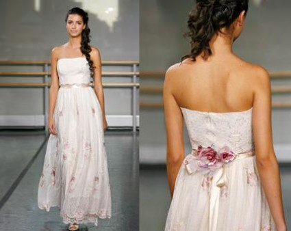 strapless summer wedding dresses