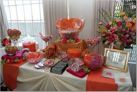 red wedding candy buffet The availability of a candy buffet is not only a