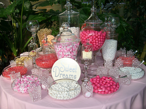 wedding candy buffet To offer your guests a range of sweet treats at your