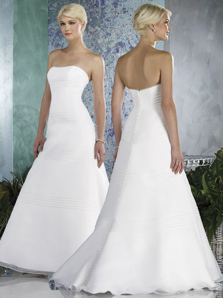 strapless a-line wedding gowns