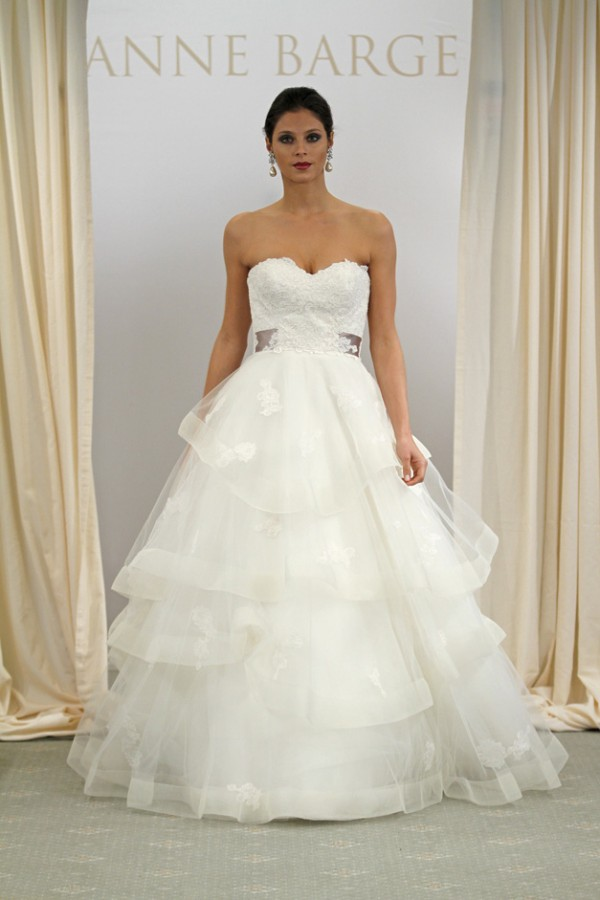 anne barge lace wedding dress