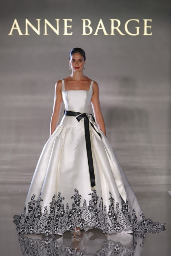 anne barge wedding dress with sash