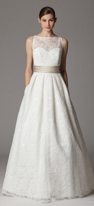 bateau neckline aria wedding dress