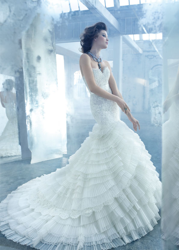 lazaro organza wedding dress 2013