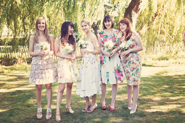 short vintage bridesmaid dresses