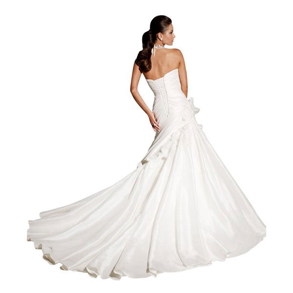 elegant sweetheart strapless taffeta court train ivory wedding dress