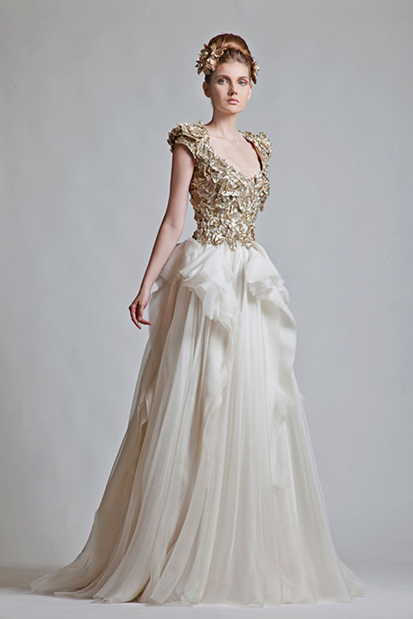 Krikor jabotian wedding dresses fall 2013 sang maestro for Dresses for a fall wedding