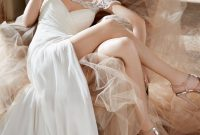 ivory silk georgette sheath bridal gown with bolero