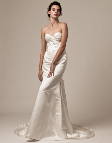 palazzo sweetheart satin bridal dress 2013
