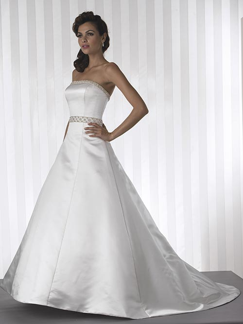 ivory silk strapless wedding dress
