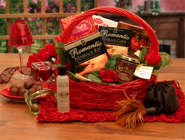 romantic wedding gift baskets