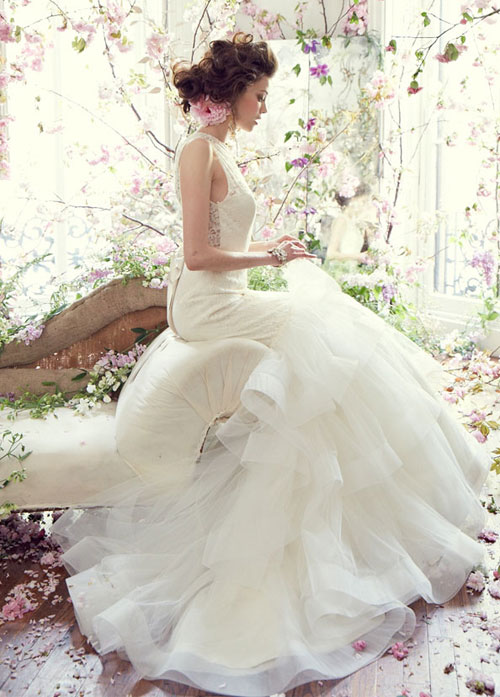 tara keely fall 2013 ivory alencon lace fit and flare bridal gown
