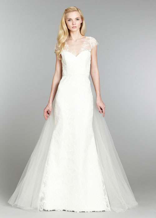 tara keely fall 2013 ivory lace trumpet bridal gown