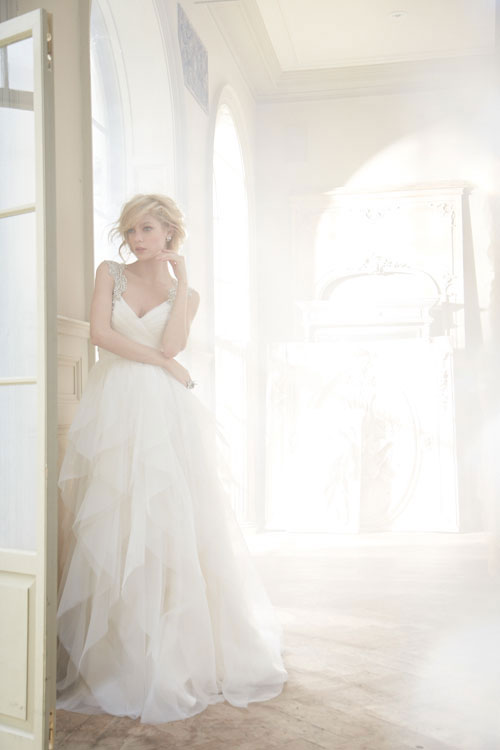 hayley paige a-line natural waist bridal dress