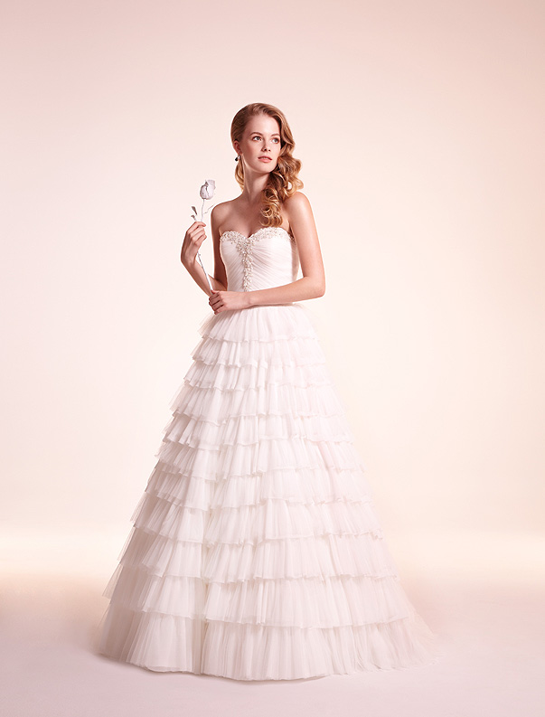 alita graham organza wedding dress 2012