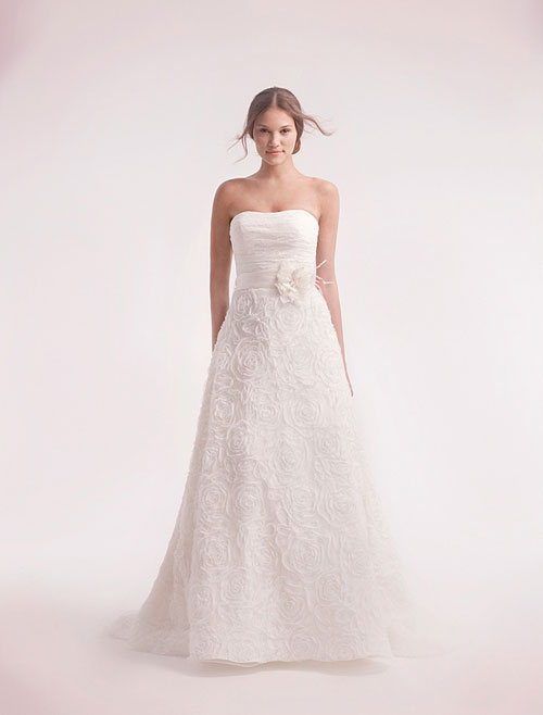 alita graham strapless a-line wedding gown