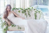 alvina valenta ivory french corded lace bridal gown
