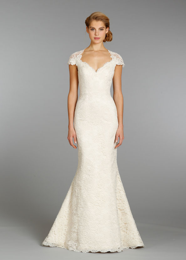 alvina valenta ivory lace bridal gown 2013 fall collection 02
