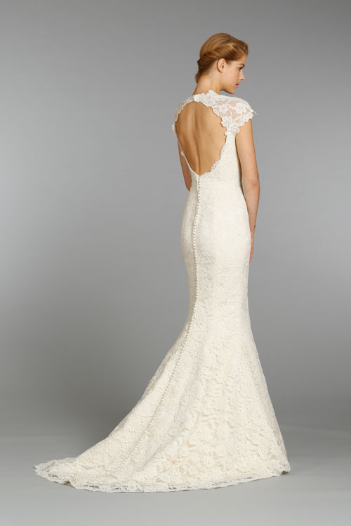 alvina valenta ivory lace bridal gown 2013 fall collection 03