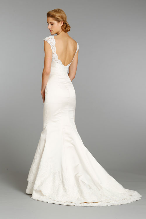 Alvina Valenta Ivory Silk Bateau Bridal Gown – Fall 2013 Collections ...