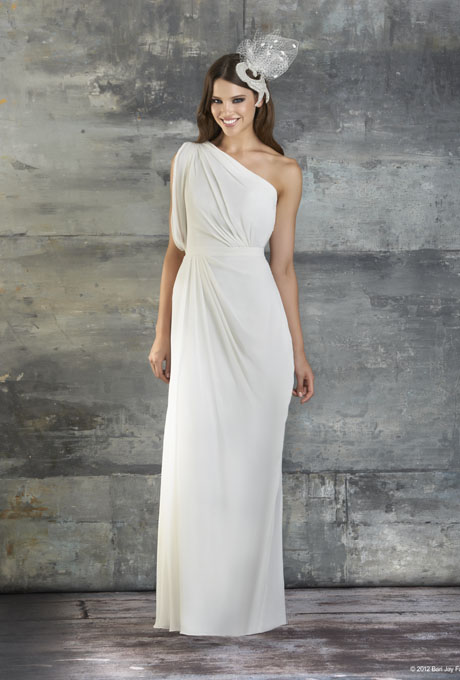 bari jay one shoulder wedding dress fall 2013 002